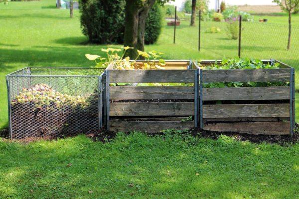 kompostér drevený
