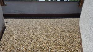 Kamenný koberec po pokládce