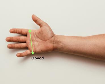 obvod ruky veľkosť lyžiarskych rukavíc