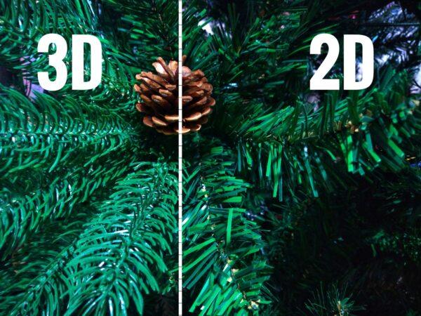 3D a 2D ihličie rozdiel