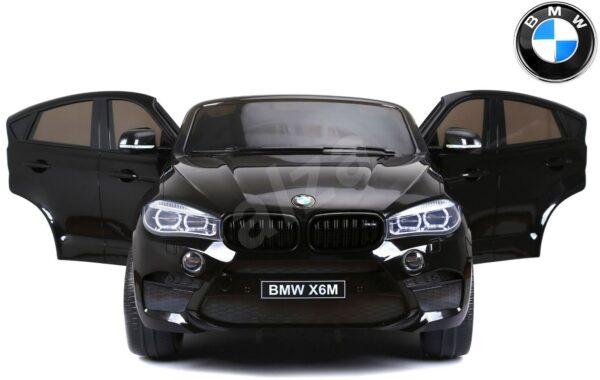 Detské elektrické auto BMW X6 M čierne lakované