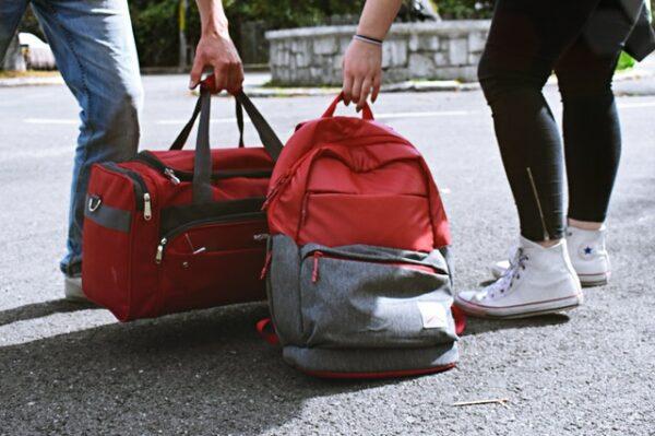 športová taška a batoh