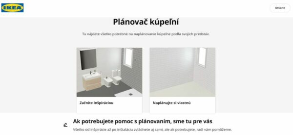 IKEA plánovač kúpeľní